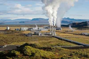 Steam rising from the Nesjavellir Geothermal Power Station in Iceland. Credit: Gretar Ívarsson, geologist at Nesjavellir